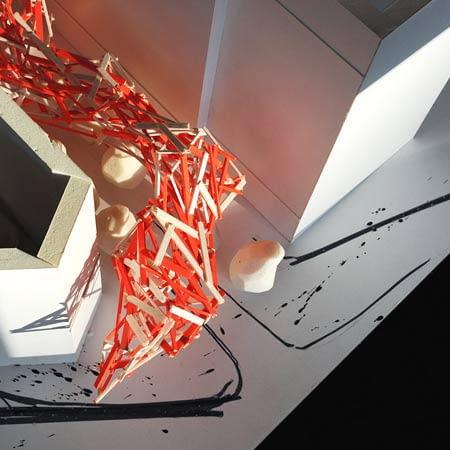 Gigantyczna instalacja w Brukseli - makieta. Arne Quinze