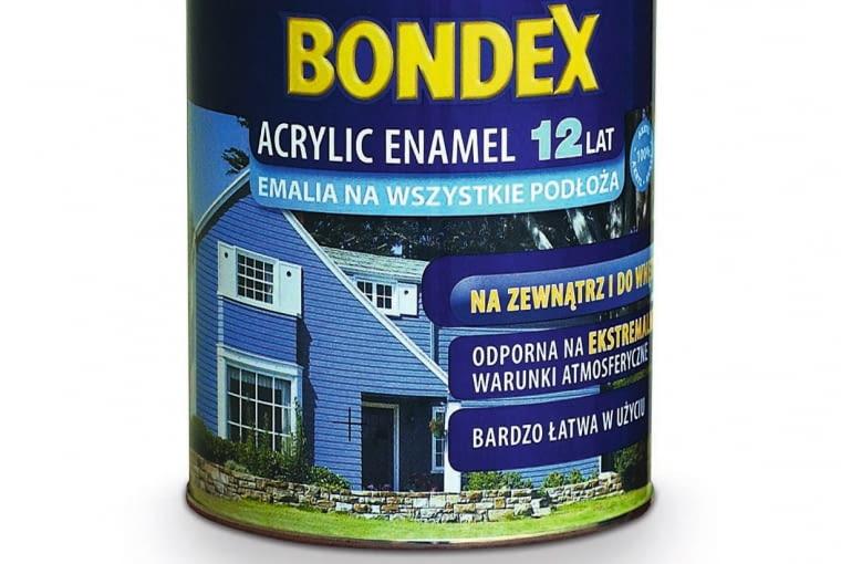 ACRYLIC ENAMEL - emalia akrylowa, ogólna, półmat, ok. 45 zł/0,75 l, Bondex