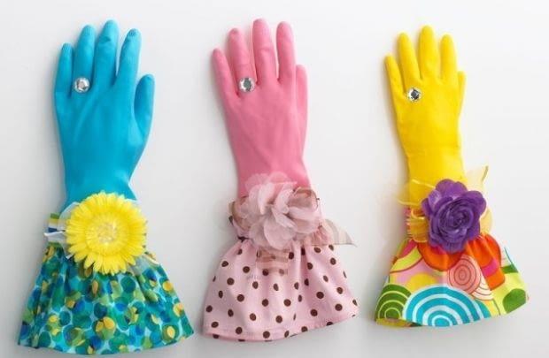 rękawice, mycie, naczynia
