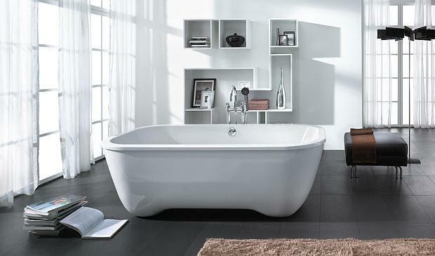 wolno stojąca wanna, projektowanie łazienek