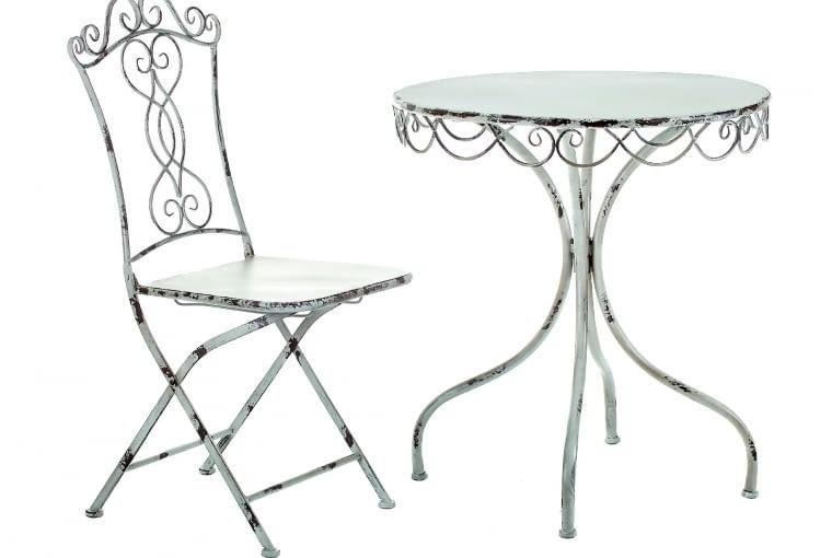 BERTONI, stal, stolik (śr. 70 cm) 457 zł, krzesło 315 zł Altavola