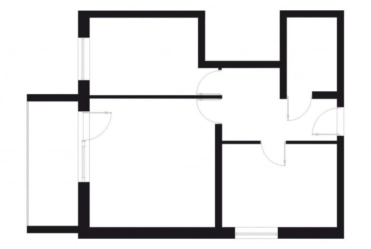 54 m kw., 2 pokoje, dla 3 osób