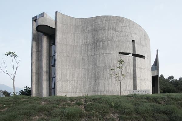 Świątynia Ziarna, góra Luofu, prowincja Guangdong, proj. O Studio Architects, 2011