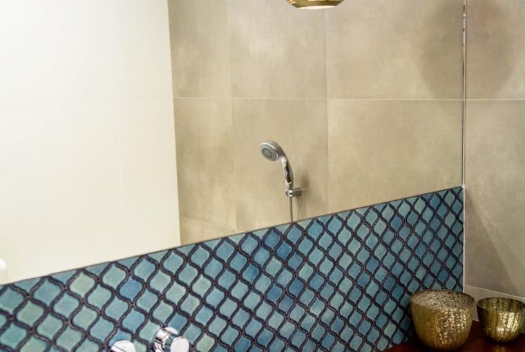 Mozaika Arabeska, Adriatyk, ceramika, 24,5 x 29,3 cm, gr. 0,5 cm, 39,95 zł/szt.,Raw Decor