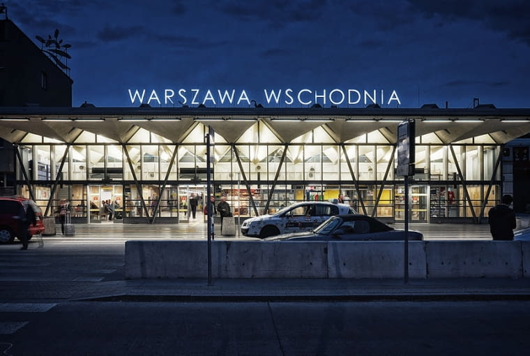 Warszawa Wschodnia widok od ul. Lubelskiej