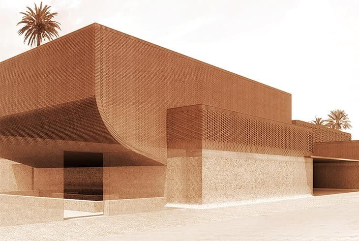 Muzeum Yves Saint Laurenta - wizualizacja