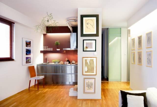 wnętrze, kuchnia, aranżacja, meble