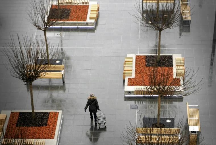 1.04.2015 Katowice . Rynek po remoncie . Fot. Grzegorz Celejewski / Agencja Gazeta