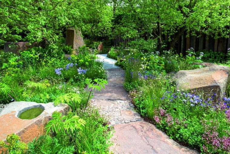 jThe M&G Garden. Designed by Cleve West. Sponsored byM&G. Sponsored by: M&G. RHS Chelsea Flower Show 2016.