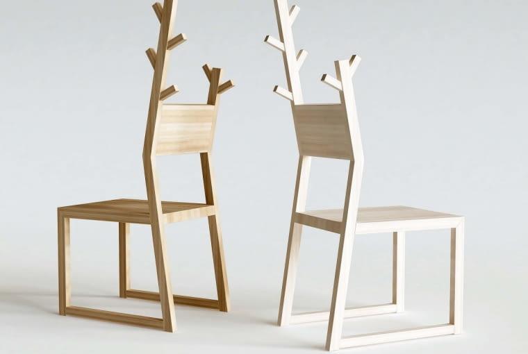 Krzesło zwieszakiem BASE MOOSE, drewno dębowe, na zamówienie