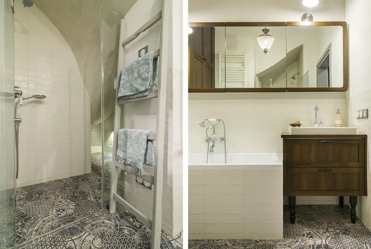 Biel, szarości i drewno - recepta na stylową łazienkę