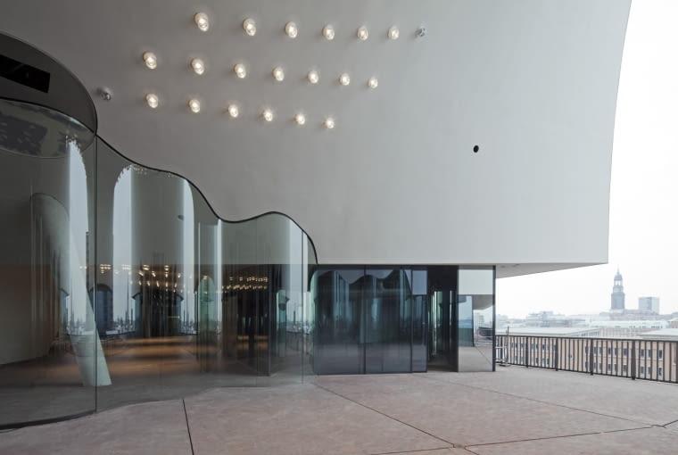 Elbphilharmonie Plaza - taras widokowy w budynku filharmonii hamburskiej