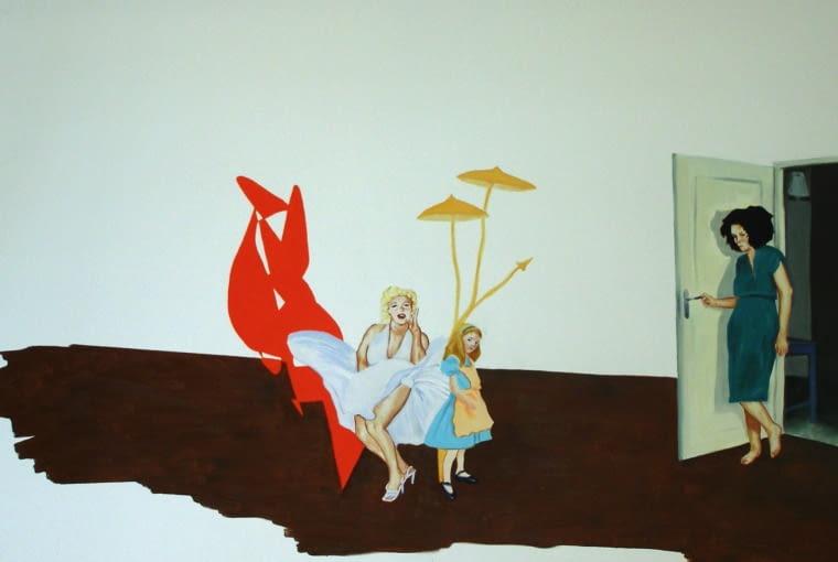 Bez tytułu, 150 x 100 cm, olej na płótnie, 2006