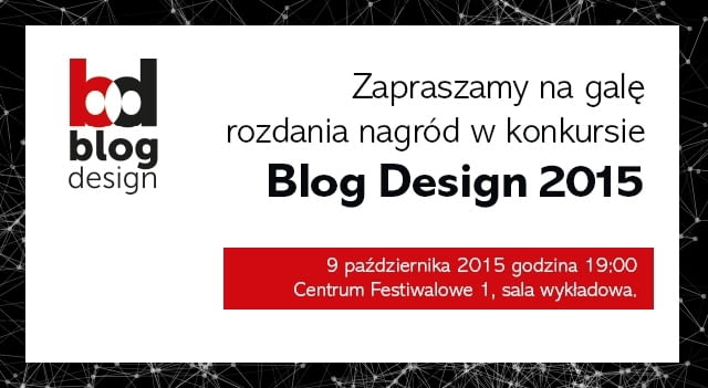 Zaproszenie na galę Blog Design 2015