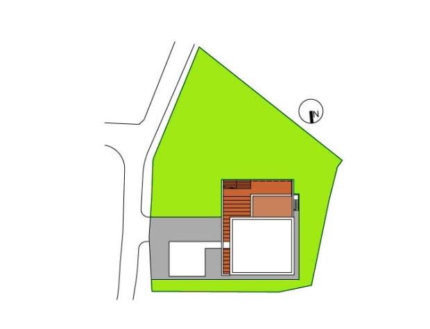 Modernizacja domu kostki w Tychach - sytuacja