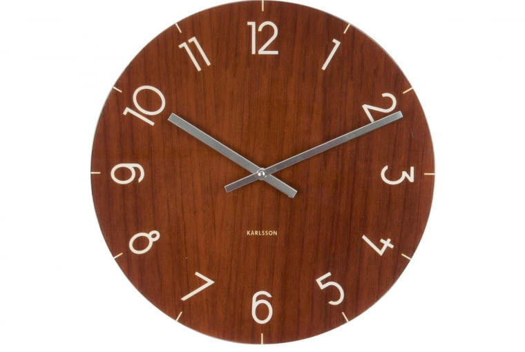ZW stylu tego wnętrza: Zegar, szkło, śr. 40 cm, 139 zł, galerialimonka.pl