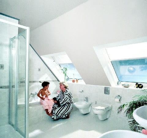 łazienka, poddasze, kabina prysznicowa, sedes, bidet