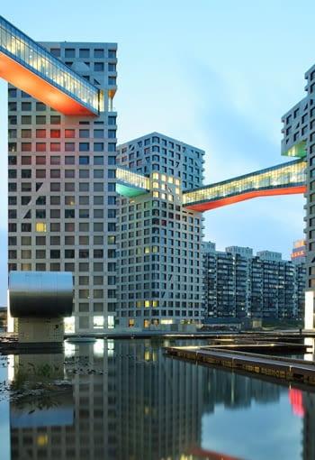 steven holl architects, linked hybrid, pekin, chiny, apartamenty