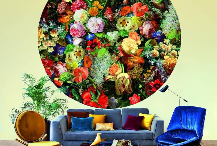 Rajski ogród. Spektakularny dywan Eden Queen projektu Marcela Wandersa (Moooi Carpets) króluje we wnętrzu