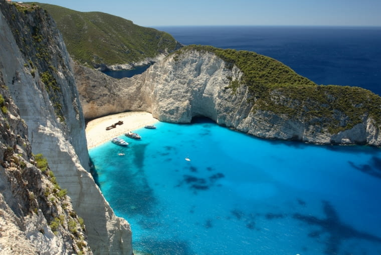 Grecja wyspy greckie - Zakyntos. Jedna z największych Wysp Jońskich na Morzu Jońskim. Leży na zachód od Peloponezu.