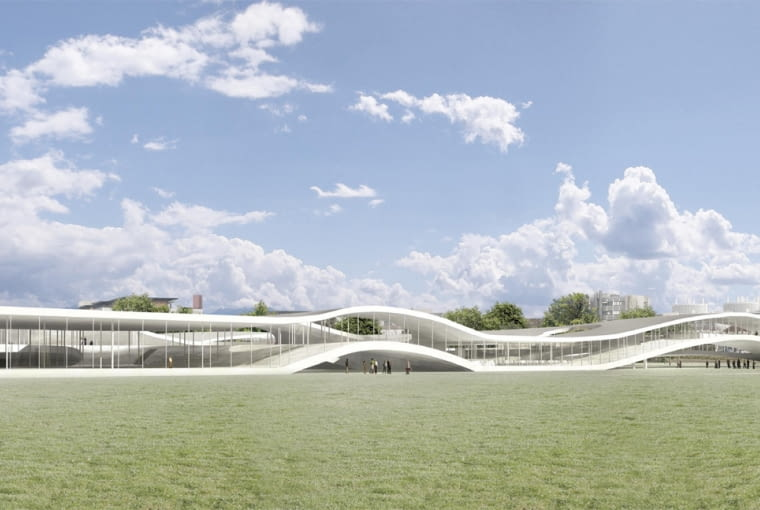 sanaa, rolex leraning centre, szwajcaria, uniwersytet