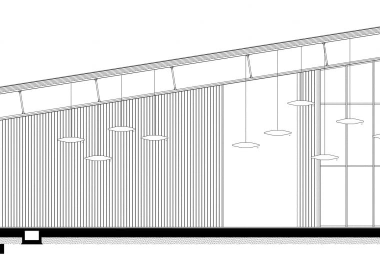 Przekrój amfiteatru w Parku Zdrojowym w Horyńcu