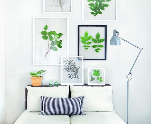 Dekoracje ścian rzeczami, które mamy w domu