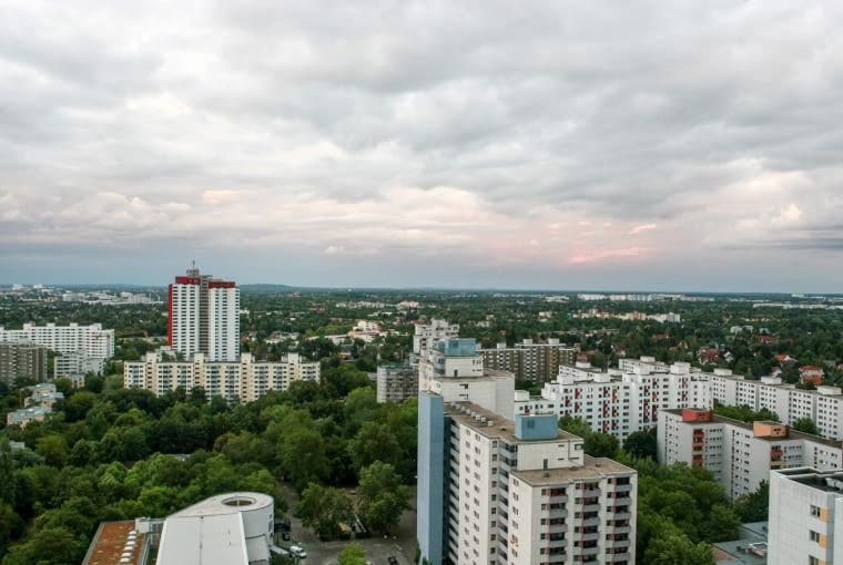 Panorama Berlina z Skylounge in der Gropiusstadt