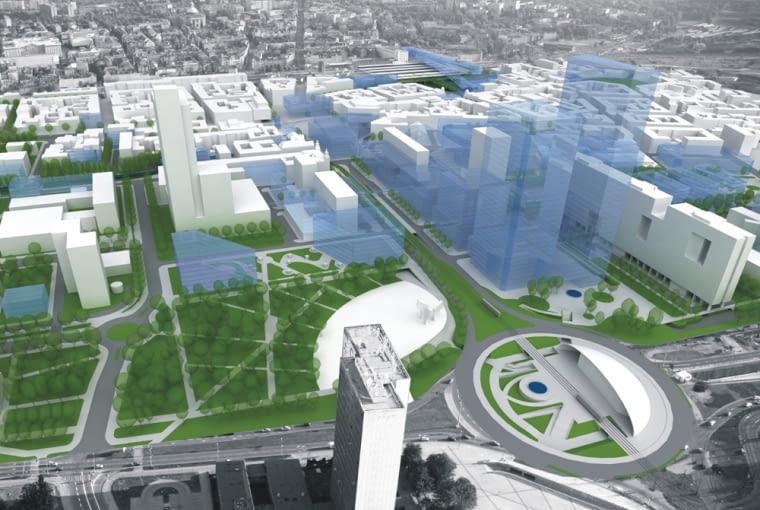 Projekt na centrum Katowic projektu Tomasza Koniora