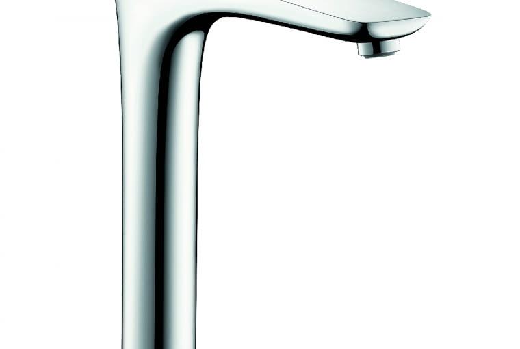 PuraVida/HANSGROHE   Dwuotworowa, elektroniczna   obrotowy pierścień LED optycznie informuje o temperaturze wody. Cena: 9400 zł, www.hansgrohe.pl