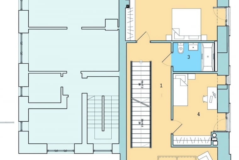 dom jednorodzinny, piętro, rozkład pomieszczeń w domu