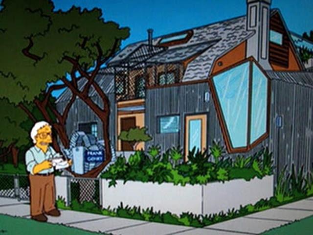Gehry w Simpsonach