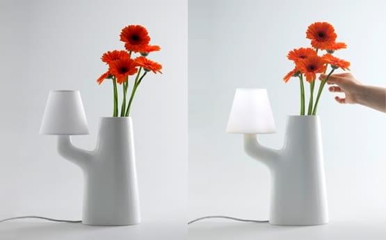 Touch Lamp Vase, projekt: Roger Arquer