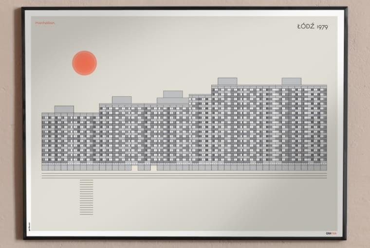 Plakat Łódzki Manhattan