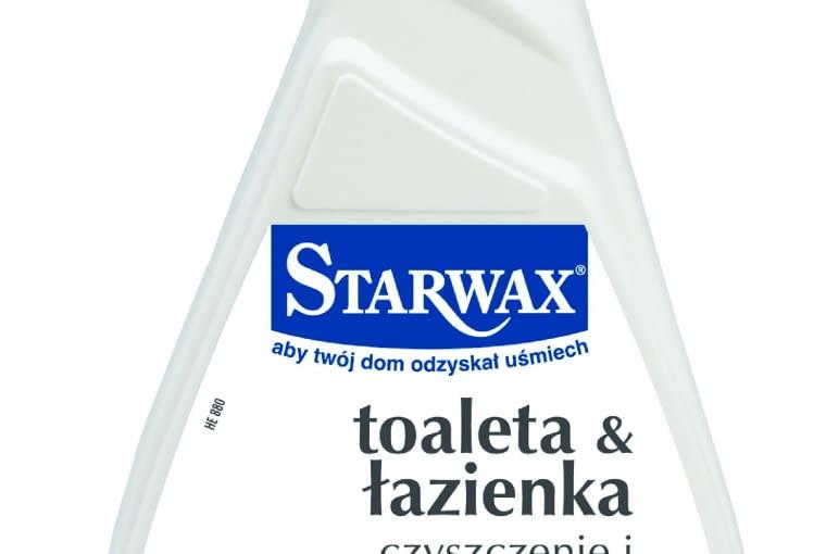 Toaleta & Łazienka/STARWAX. Usuwa osady z wody, mydła, kosmetyków. Do zmywalnych na mokro powierzchni w łazience. Może być stosowany m.in. na ceramice, żeliwie, powierzchniach chromowanych, szkliwionych, stali nierdzewnej. Cena: 26,50 zł (500 ml), www.starwax.pltest 023
