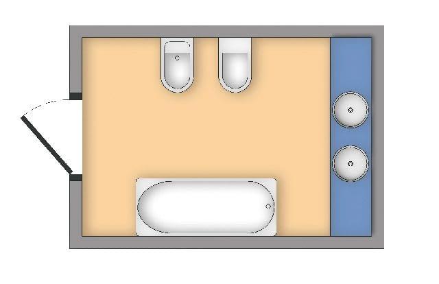 W większości łazienek bidet i miskę ustępową najczęściej wiesza się obok siebie. Minimalna odległość od pozostałych urządzeń sanitarnych w łazience wynosi ok. 30 cm.