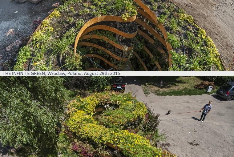 Nieskończony Zielony - porównanie wyglądu instalacji w roku 2015 i rok później