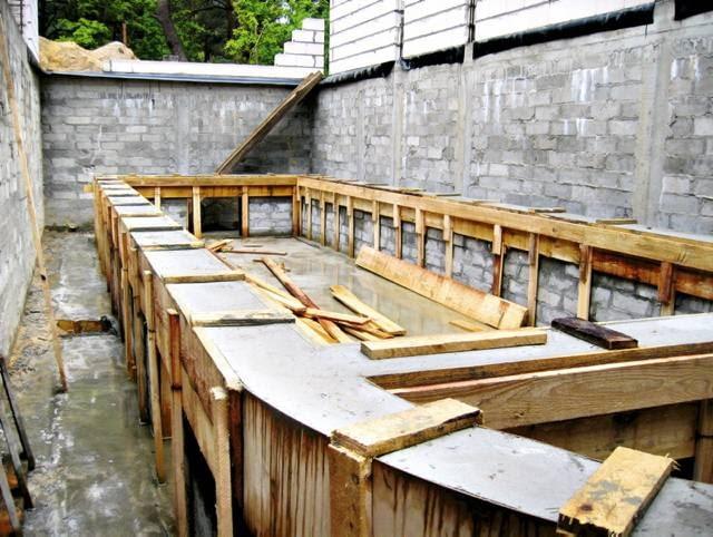 Budowa części basenowej