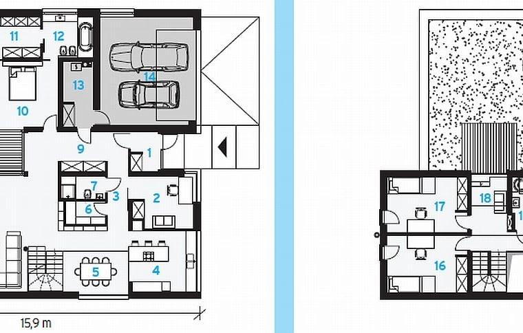 plan domu, projekt domu