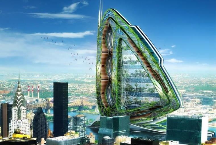 Wieżowiec Ważka, Nowy Jork, USA, proj. Vincent Callebaut