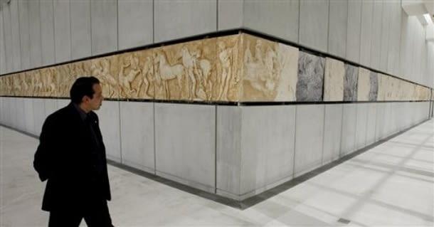 Fryz pochodzący z Partenonu w New Acropolis Museum
