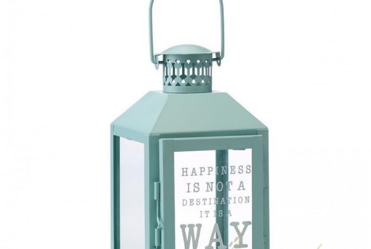 W stylu tego wnętrza: Błękitny lampion metalowy, 34,90 zł, Lawendowy Kredens