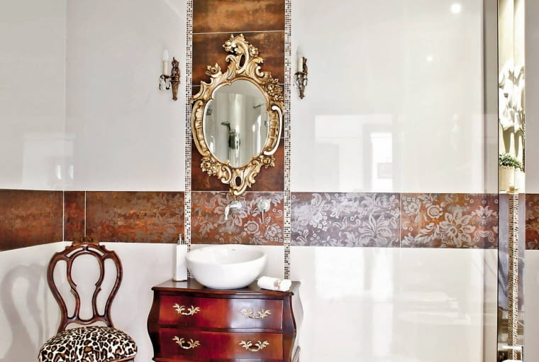 łazienka, wystrój wnętrz, płytki ścienne i podłogowe,