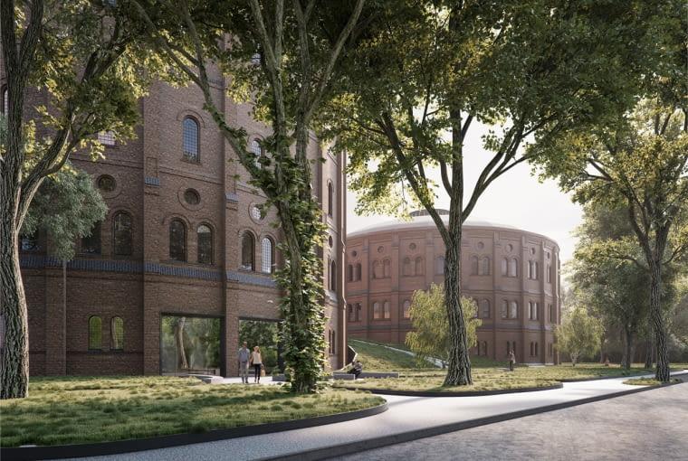 Projekt adaptacji dawnych zbiorników gazu na centrum kultury