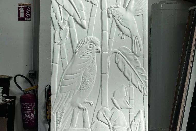 Art Nouveau. Grzejnik może też wyglądać jak płaskorzeźba. Proj. Johanne Cinier, Cinier, cinier.com