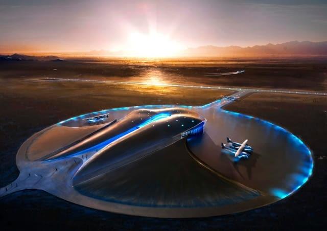 Spaceport America, Nowy Meksyk, USA, proj. Foster Partners wizualizacja: Foster Partners