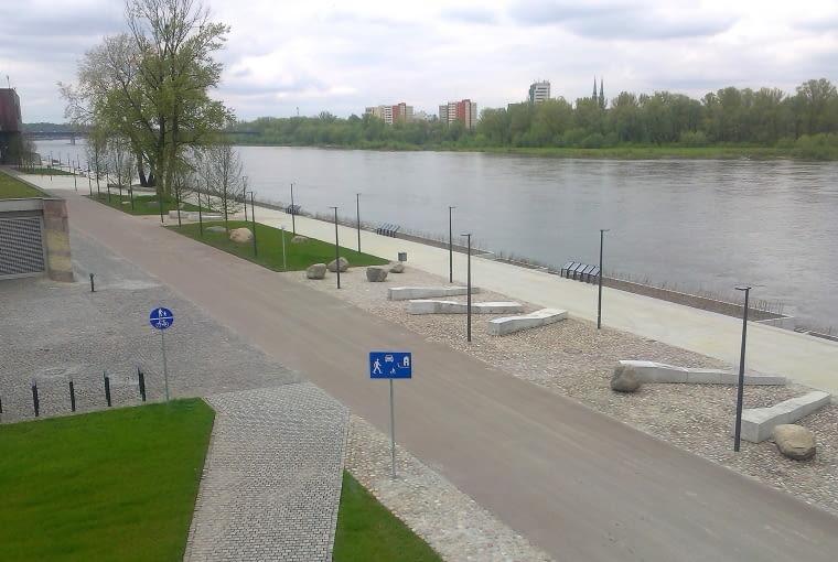 Otwarcie nowego odcinka bulwarów wiślanych w Warszawie