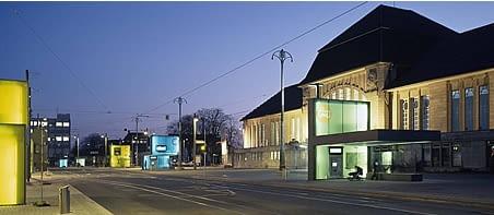 mała architektura, mała bryła, przystanek, przystanki, niemcy, darmstadt, netzwerk architekten