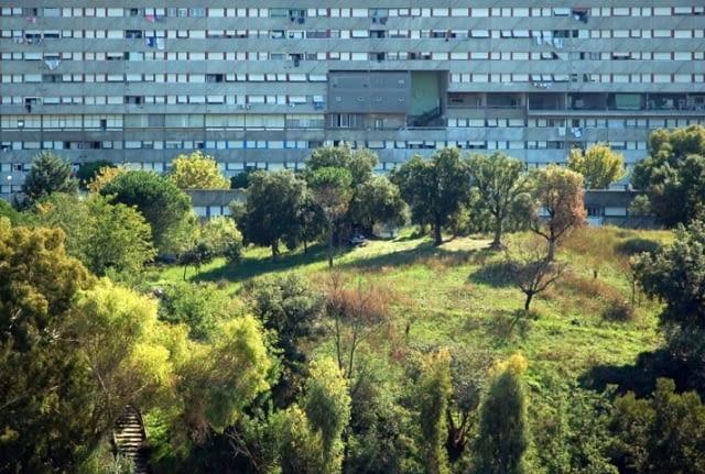 rzym, corviale, le corbusier, blok, modernizm