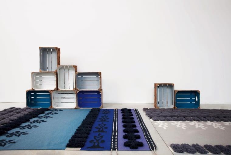 Glaoui nawiązujący do marokańskich tradycji tkackich model projektu Sandry Figueroli, Gan by Gandia Blasco.